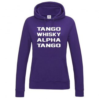 Ladies T.W.A.T Hoodie - Purple, 18