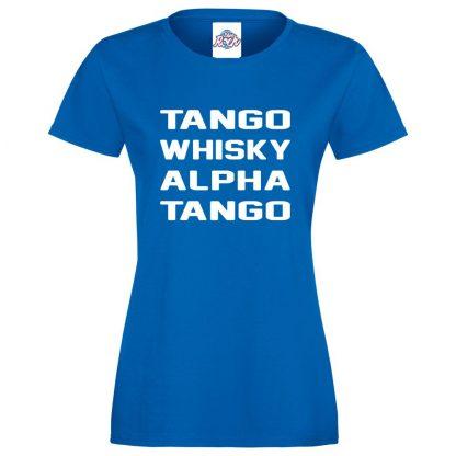 Ladies T.W.A.T T-Shirt - Royal Blue, 18