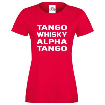 Ladies T.W.A.T T-Shirt - Red, 18
