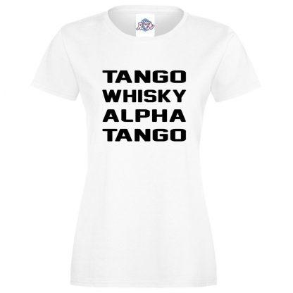 Ladies T.W.A.T T-Shirt - White, 18