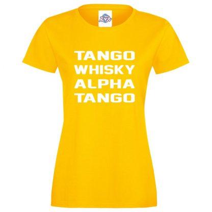 Ladies T.W.A.T T-Shirt - Yellow, 18