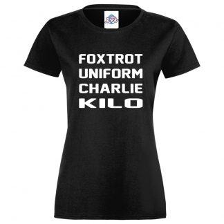 Ladies F.U.C.K T-Shirt - Black, 18