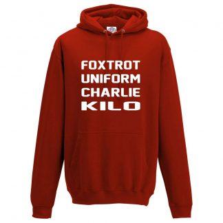 Mens F.U.C.K Hoodie - Red, 3XL