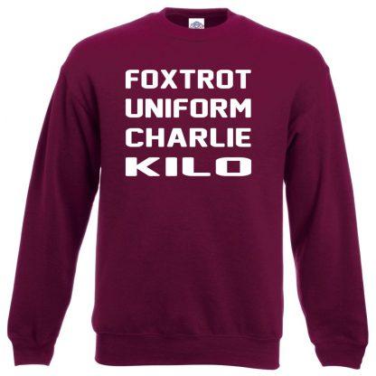 F.U.C.K Sweatshirt - Maroon, 2XL