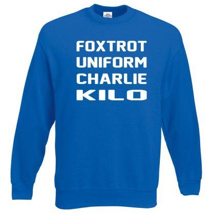 F.U.C.K Sweatshirt - Royal Blue, 2XL