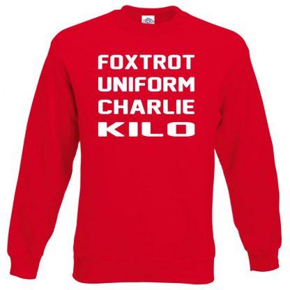 F.U.C.K Sweatshirt - Red, 2XL