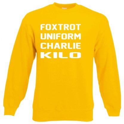 F.U.C.K Sweatshirt - Yellow, 2XL