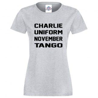 Ladies C.U.N.T T-Shirt - Heather Grey, 18