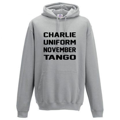 Mens C.U.N.T Hoodie - Charcoal, 2XL