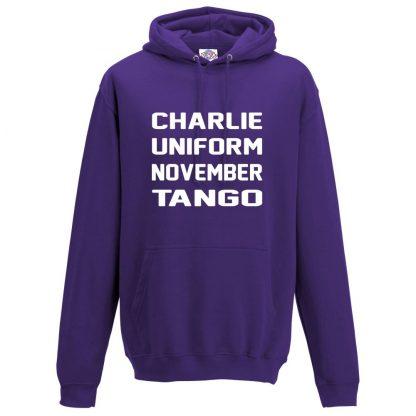 Mens C.U.N.T Hoodie - Purple, 3XL