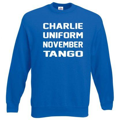 C.U.N.T Sweatshirt - Royal Blue, 2XL
