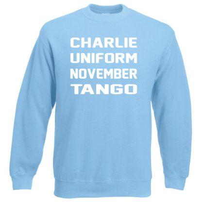 C.U.N.T Sweatshirt - Sky Blue, 2XL