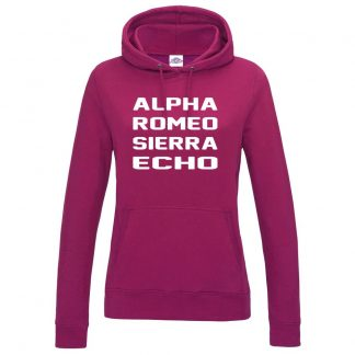 Ladies A.R.S.E Hoodie - Hot Pink, 18