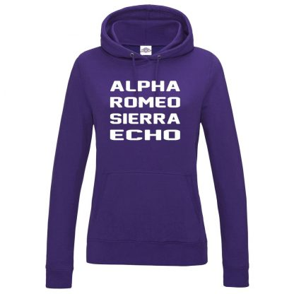 Ladies A.R.S.E Hoodie - Purple, 18
