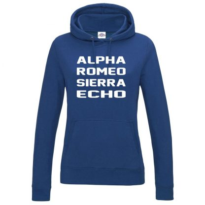 Ladies A.R.S.E Hoodie - Royal Blue, 18