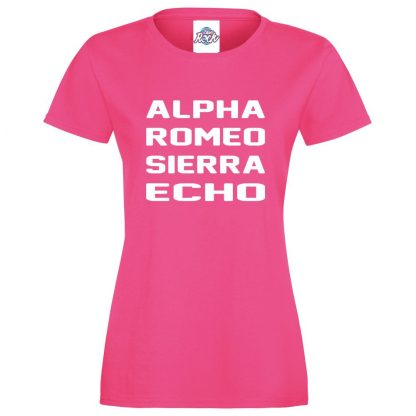 Ladies A.R.S.E T-Shirt - Pink, 18