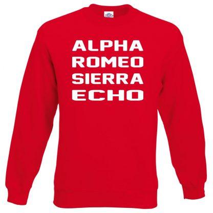 A.R.S.E Sweatshirt - Red, 2XL