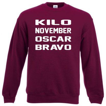 K.N.O.B Sweatshirt - Maroon, 2XL