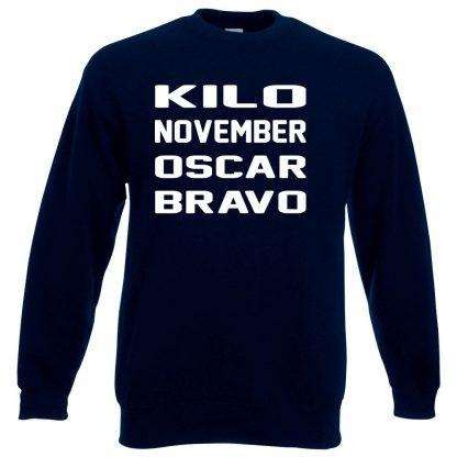 K.N.O.B Sweatshirt - Navy, 3XL
