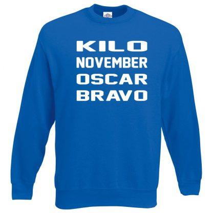 K.N.O.B Sweatshirt - Royal Blue, 2XL