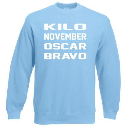 K.N.O.B Sweatshirt - Sky Blue, 2XL