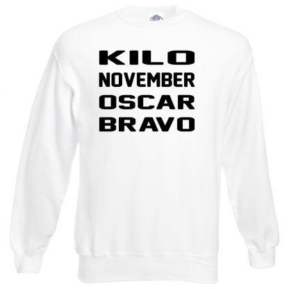 K.N.O.B Sweatshirt - White, 3XL
