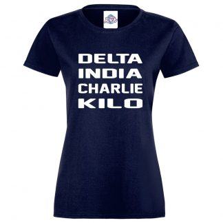 Ladies D.I.C.K T-Shirt - Navy, 18