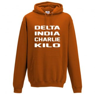 Mens D.I.C.K Hoodie - Orange, 2XL