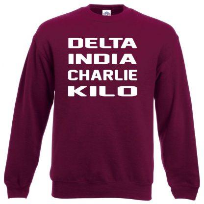 D.I.C.K Sweatshirt - Maroon, 2XL
