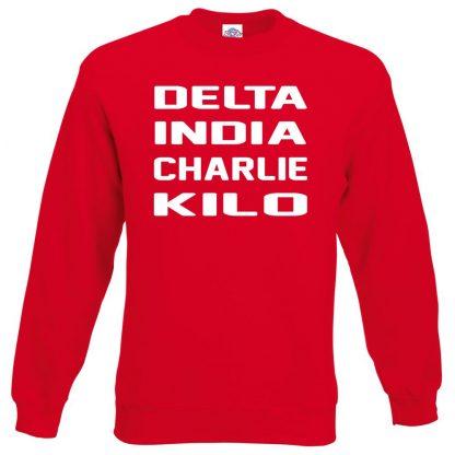 D.I.C.K Sweatshirt - Red, 2XL