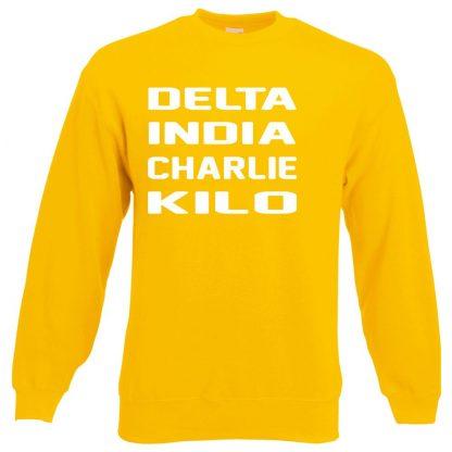 D.I.C.K Sweatshirt - Yellow, 2XL