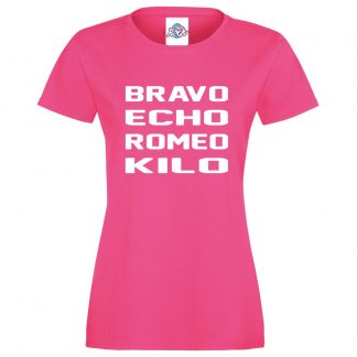 Ladies B.E.R.K T-Shirt - Pink, 18