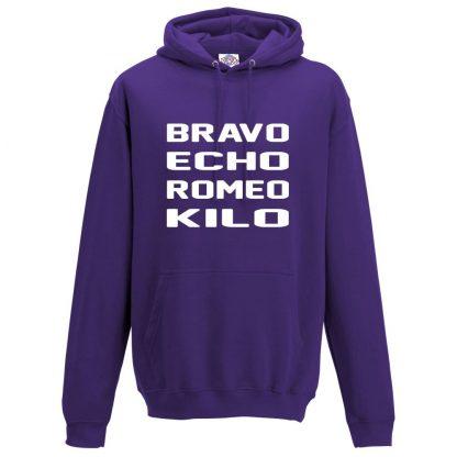 Mens B.E.R.K Hoodie - Purple, 3XL