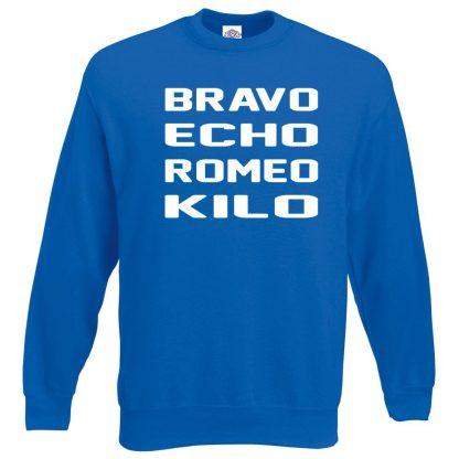 B.E.R.K Sweatshirt - Royal Blue, 2XL