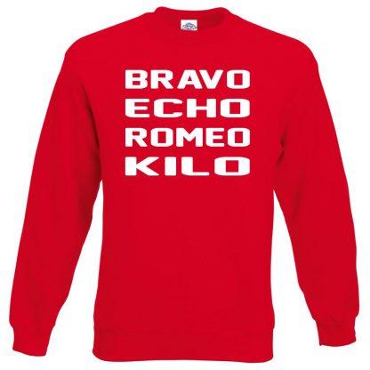 B.E.R.K Sweatshirt - Red, 2XL