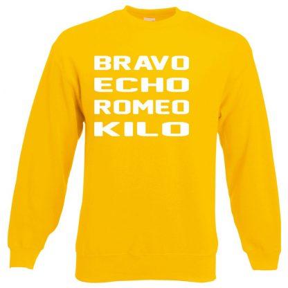 B.E.R.K Sweatshirt - Yellow, 2XL