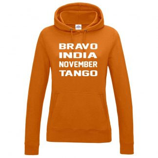 Ladies B.I.N.T Hoodie - Orange, 18