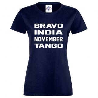 Ladies B.I.N.T T-Shirt - Navy, 18