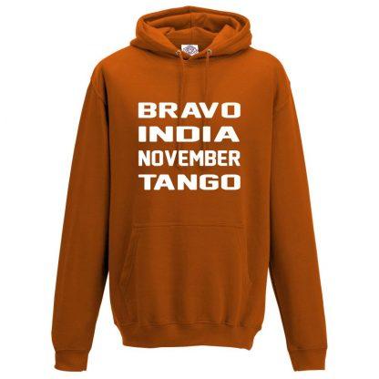 Mens B.I.N.T Hoodie - Orange, 2XL