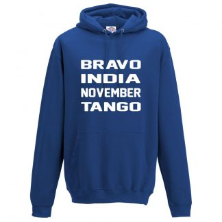 Mens B.I.N.T Hoodie - Royal Blue, 3XL