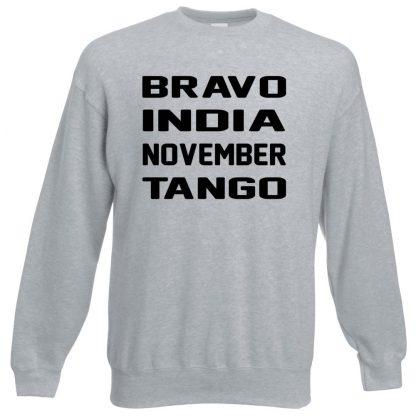 B.I.N.T Sweatshirt - Grey, 3XL