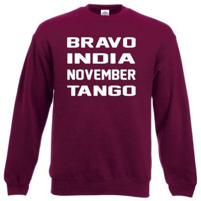 B.I.N.T Sweatshirt - Maroon, 2XL