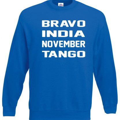 B.I.N.T Sweatshirt - Royal Blue, 2XL