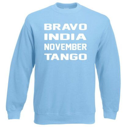 B.I.N.T Sweatshirt - Sky Blue, 2XL