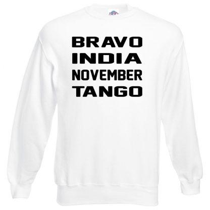 B.I.N.T Sweatshirt - White, 3XL