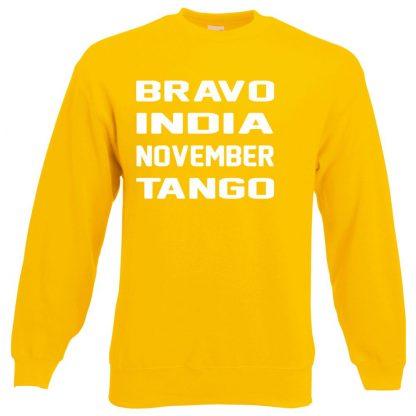 B.I.N.T Sweatshirt - Yellow, 2XL