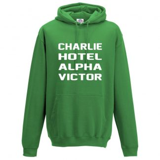 Mens C.H.A.V Hoodie - Kelly Green, 2XL