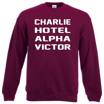 C.H.A.V Sweatshirt - Maroon, 2XL