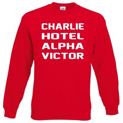 C.H.A.V Sweatshirt - Red, 2XL
