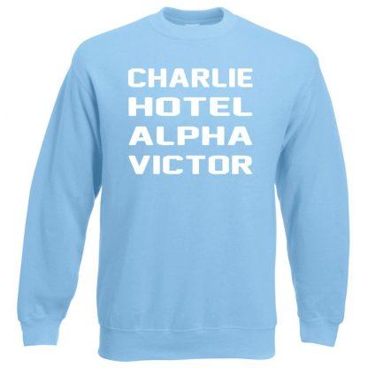 C.H.A.V Sweatshirt - Sky Blue, 2XL